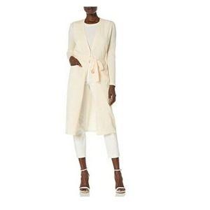 Anne Klein Sweater Long Tie-Waist Cardigan Top XL